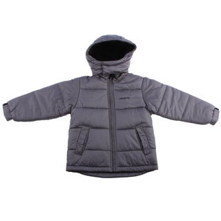 London Fog Boys 4-7 Faux Fur Lining Grey Jacket