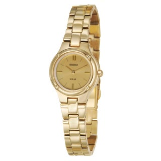 Seiko Women's 'Solar' Yellow Gold-Tone Stainless Steel Watch