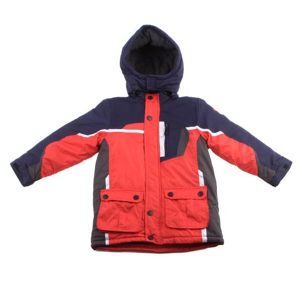 Osh Kosh Boys Red/ Multi Heavyweight Jacket
