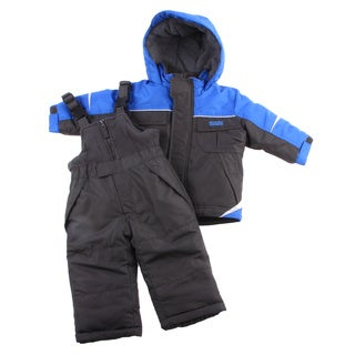 Osh Kosh Infant Boys Blue/ Black Snowsuit and Jacket Set