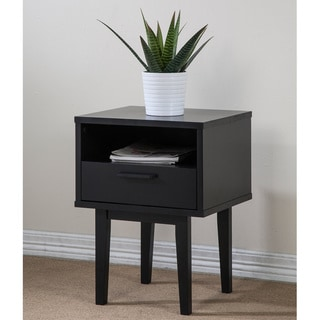 Cole 1-drawer Black Nightstand