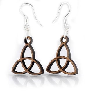 Triquetra Trinity Knot Dangle Earrings (Ireland)