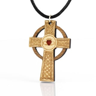 Celtic Claddagh Cross Necklace (Ireland)
