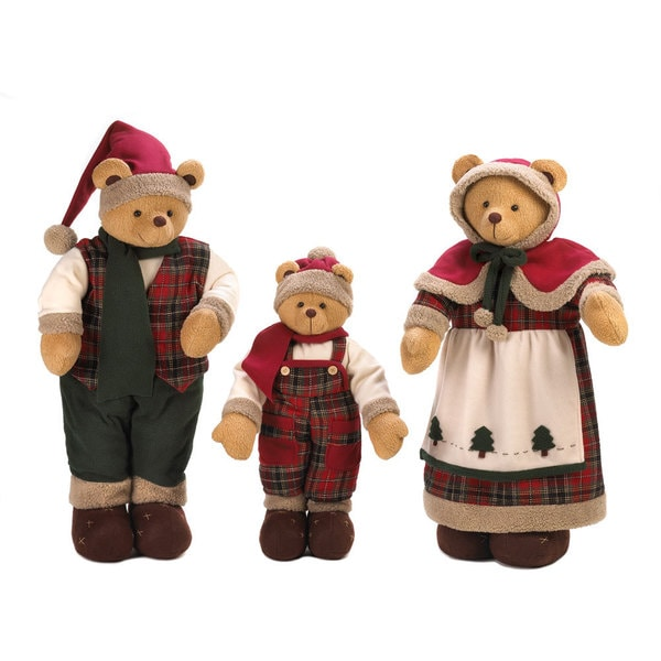 Holiday Bear Family Decor