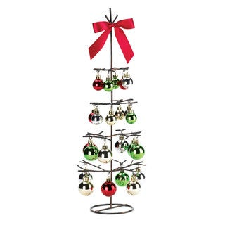 Red and Green Wire Holiday Tabletop Tree