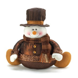 Decorative Golden Sparkle Snowman