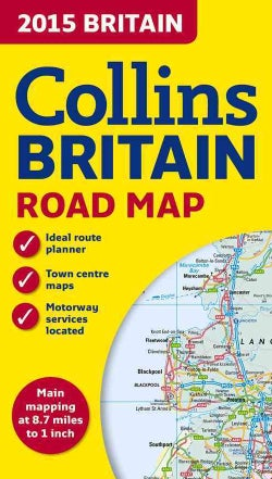 Collins 2015 Britain Road Map (Sheet map, folded)