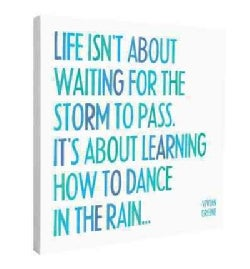 Dance In the Rain Wall Canvas (Poster)