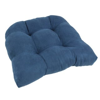 Blazing Needles 19x19-inch U-Shaped Tufted Microsuede Chair Cushion