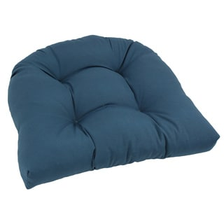 Blazing Needles Solid 19-inch U-Shaped Tufted Twill Chair Cushion