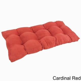 Blazing Needles Earthtone 42 x 19-inch Tufted Microsuede Loveseat Cushion
