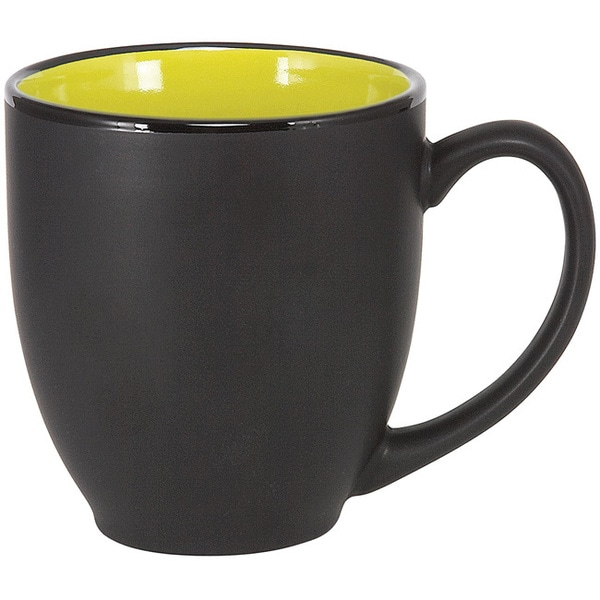 Bistro Lime Green Ceramic Mugs (Pack of 4)