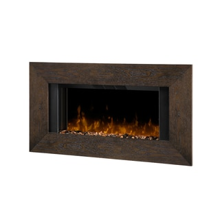 Dimplex DWF-1322MA3A Electric Flame Fireplace with Mocha and Stone Accent