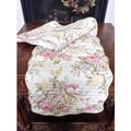 Pretty Peony Quilted Cotton Table Runner