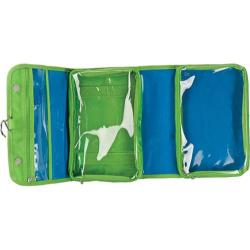 Women's baggallini FOC656 Fold Out Cosmetic Bagg Blue/Lime Polyester