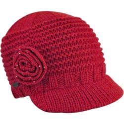 Women's Betmar Flower Cap Scarlet