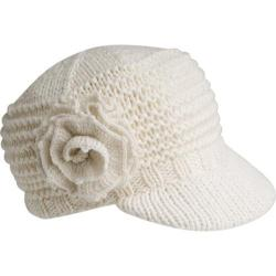 Women's Betmar Flower Cap White