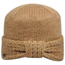 Women's Betmar Turban Knit Beanie Taupe/Gold