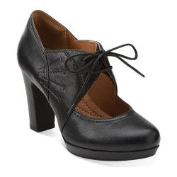 Women's Clarks Flyrt Dally Black Leather