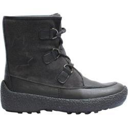 Women's Cougar Cayuga Black/Smoke Deertan Leather/Silky Suede