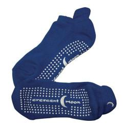 Women's Crescent Moon Yoga ExerSock (3 Pairs) Royal Blue/White