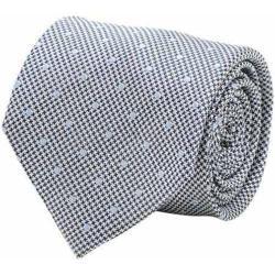 Men's Cufflinks Inc Dotted Herringbone Silk Tie Grey