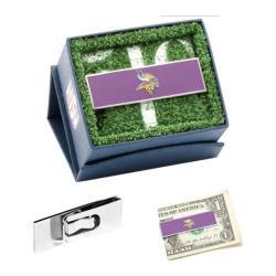 Men's Cufflinks Inc Minnesota Vikings Money Clip Purple