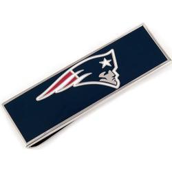 Men's Cufflinks Inc New England Patriots Money Clip Blue/Red/White