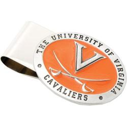 Men's Cufflinks Inc Pewter Virginia Cavaliers Money Clip Silver/Orange