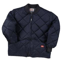 Men's Dickies Diamond Quilted Nylon Jacket Dark Navy