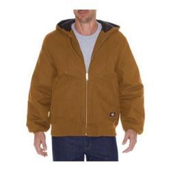 Men's Dickies Rigid Duck Hooded Jacket Tall Brown Duck