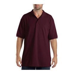 Men's Dickies Short Sleeve Pique Polo Burgundy