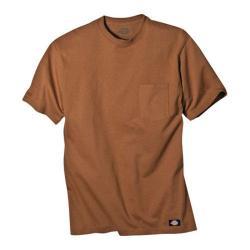 Men's Dickies Short Sleeve Pocket T-Shirt w/ Wicking Brown Duck