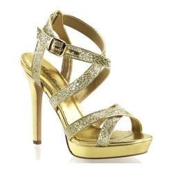 Women's Fabulicious Lumina 21 Gold Glitter
