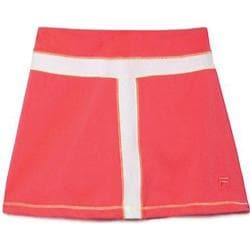 Girls' Fila Baseline Skort Diva Pink/White/Safety Yellow