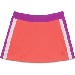 Girls' Fila Center Court Skort Fiery Coral/Purple Cactus Flower