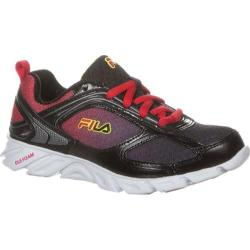 Children's Fila Stride 3 Black/Fila Red/Safety Yellow