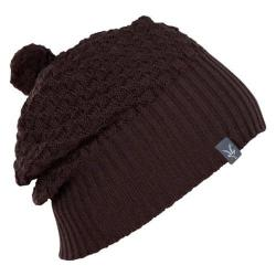 Women's Ibex Wedge Knit Hat Black Coffee Heather