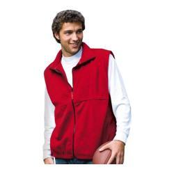 Men's Inner Harbor Full Zip Vest Fleece Red