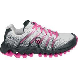 Women's K-Swiss Tubes Run 100 Gull Grey/Black Digital/Neon Pink