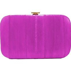 Women's Latico Eeelskin Framed Businesscard Case 8404 Fuschia Leather