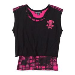 Girls' Metal Mulisha Rebel Girl Crop 2-Fer Black