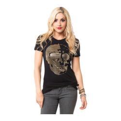 Women's Metal Mulisha Skull Cross Tee Black