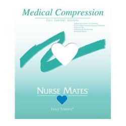 Women's Nurse Mates Medical Compression Hosiery (2 Pairs) White