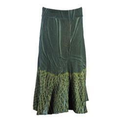 Women's Ojai Clothing Border Boot Skirt Hunter Green