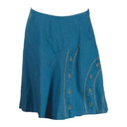 Women's Ojai Clothing Embroidered Skirt Nile Blue