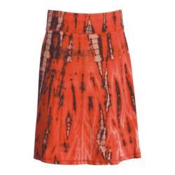 Women's Ojai Clothing Tribal Skirt Orange Sunset