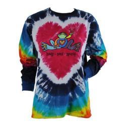 Women's Peace Frogs Heart Frog Tie Dye Long Sleeve T-Shirt Tie Dye