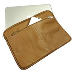 Piel Leather 15in Zip Laptop Sleeve 2893 Saddle Leather