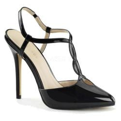 Women's Pleaser Amuse 16 Black Patent